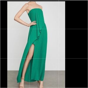 BCBG kelly green evening gown